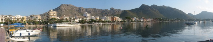 View of Puerto Pollensa from Harbour